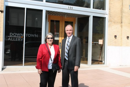 Mayor Rogero and Eddie Mannis, Knoxville, June 2012
