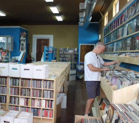 "Searching for a pristine copy of the ""Soundtrack to Shaft,"" Raven Records, Central Street, Knoxville, June 2012"