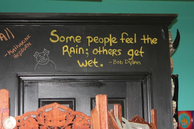 Dylan Quote inside Rococo, Knoxville, Fall 2012