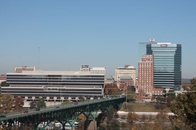 Skyline and North Waterfront, Knoxville, Fall 2012
