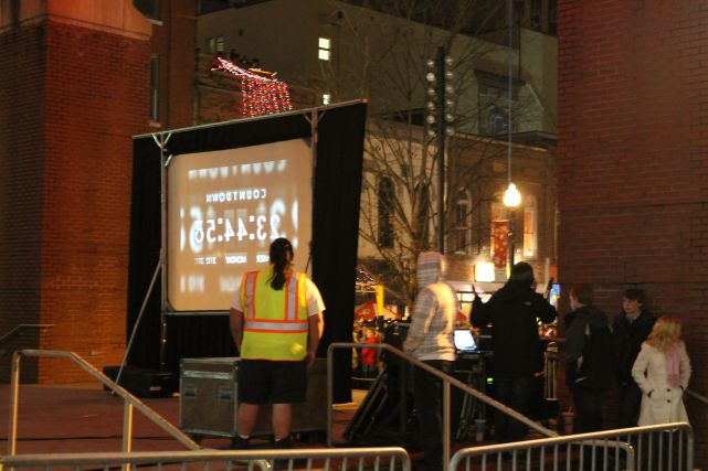 Behind the Countdown Screen, New Year's 2013 in Knoxville