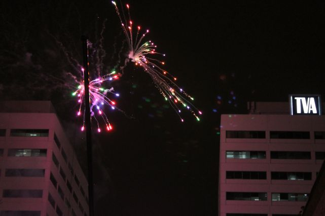 Fireworks, New Year's 2013, Knoxville