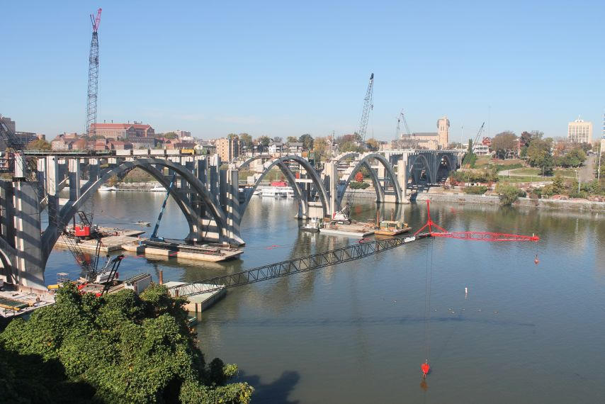 Henley Street Bridge Construction, Knoxville, October 2012