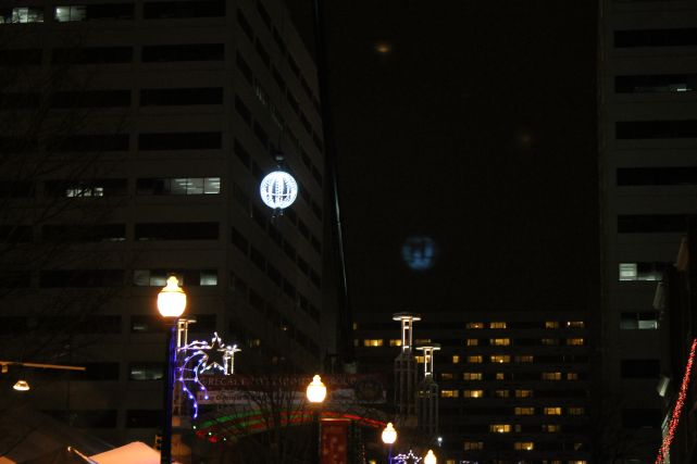 Lighted Ball Descending, New Year's 2013, Knoxville