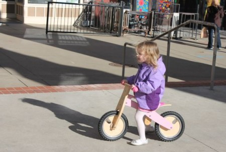 Urban Girl Takes a Winter Ride, Market Square, Knoxville, February 2013