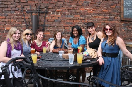Enjoying the Warm Weather on the Preservation Pub Rooftop, Knoxville, March 2013