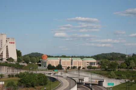 View from the State Street Parking Garage, Knoxville, May 2013